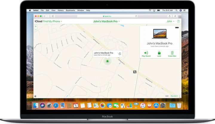 Cick on Find My Mac