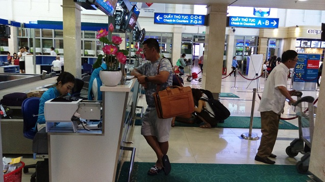 Vietnam Airlines, telephone check-in