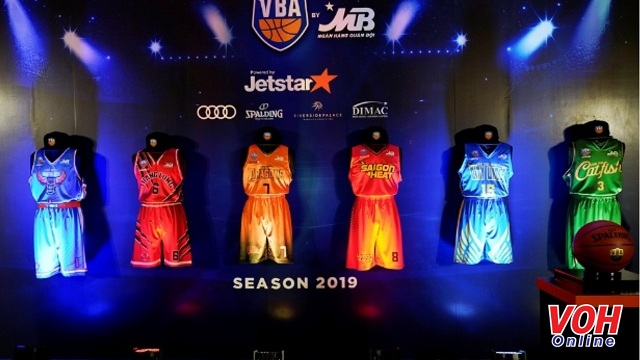 giải bóng rổ VBA 2019, Hanoi Buffaloes, Thang Long Warriors, Danang Dragons, Saigon Heat, Hochiminh City Wings by Jestar, Cantho Catfish