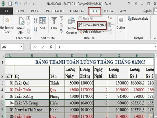 voh.com.vn-cach-loc-trung-trong-excel-1