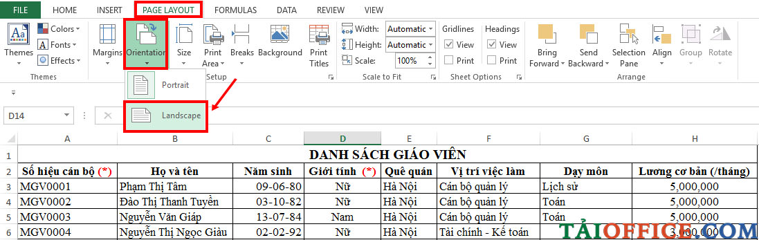 voh.com.vn.cach-in-trong-excel-anh-1