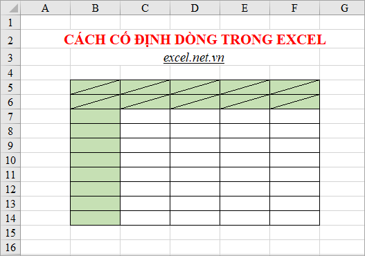 voh.com.vn.cach-co-dinh-dong-va-cot-trong-excel-anh-3