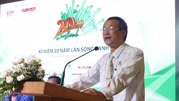 Ông Lê Công Đồng Giám đốc VOH tại họp báo 20 năm Làn Sóng Xanh voh.com.vn