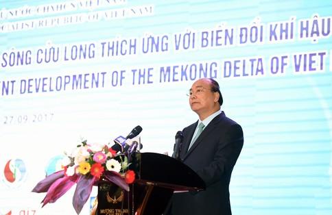 Thủ tướng Nguyễn Xuân Phúc tại hội nghị phát triển đồng bằng sông Cửu Long