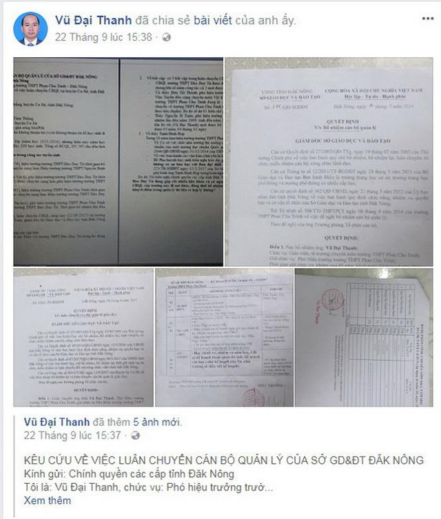 Phó hiệu trưởng 'kêu cứu' trên Facebook