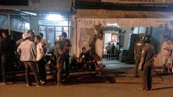 hiện trường con rể giết ba vợ tại Long Khánh