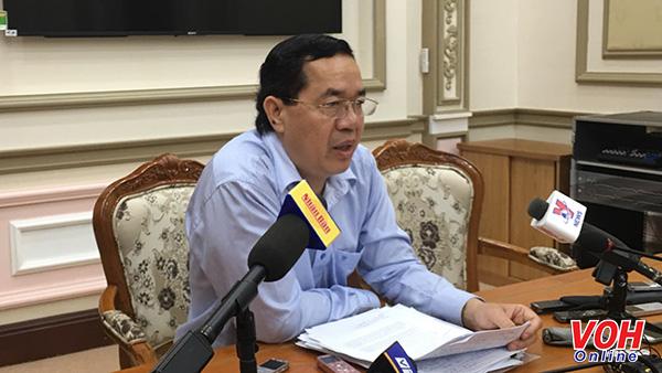 Giám đốc Sở Kế hoạch và Đầu tư TP – Sử Ngọc Anh họp báo thông tin ngắn gọn về thực hiện các dự án BT, BOT trên địa bàn TPHCM voh.com.vn