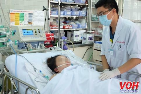 Bệnh nhân đang điều trị tích cực tại bệnh viện voh.com.vn