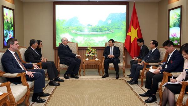 Phó Thủ tướng Vương Đình Huệ tiếp Chủ tịch Tập đoàn Jardines Matheson