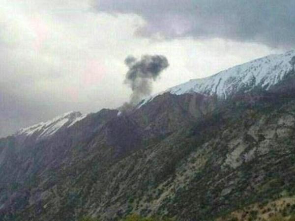 Hiện trường vụ tai nạn tại vùng núi Zagros