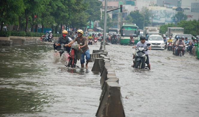 siêu máy bơm, Trung tâm Chống ngập TPHCM, đường Nguyễn Hữu Cảnh
