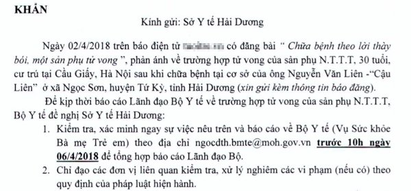 sản phụ tử vong