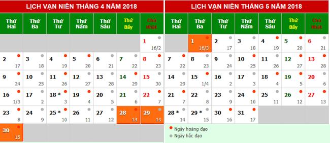 nghỉ lễ Giỗ Tổ Hùng Vương và dịp 30/4 - 1/5