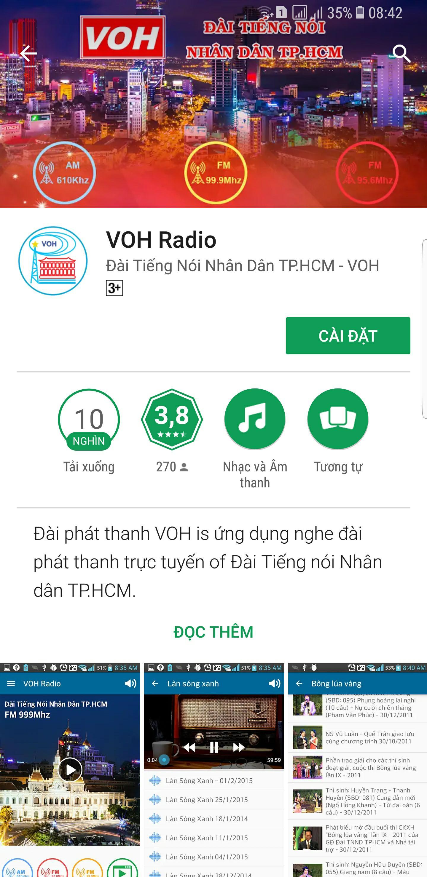 App Radio VOH - Ứng dụng Radio VOH