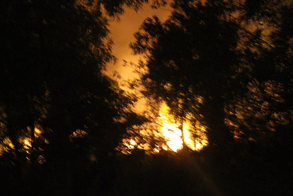 Cháy dữ dội rừng tràm