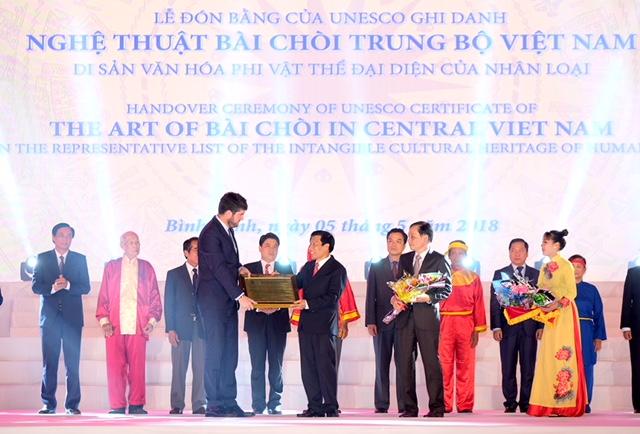 UNESCO ghi danh nghệ thuật Bài Chòi là di sản văn hóa phi vật thể của nhân loại