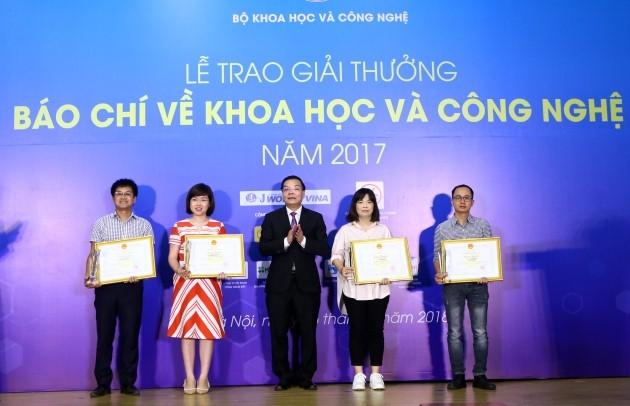 Giải thưởng báo chí về Khoa học công nghệ năm 2017,