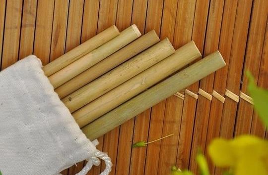 ống hút, ống hút tre, ống hút cỏ bàng, rác thải nhựa, sống xanh