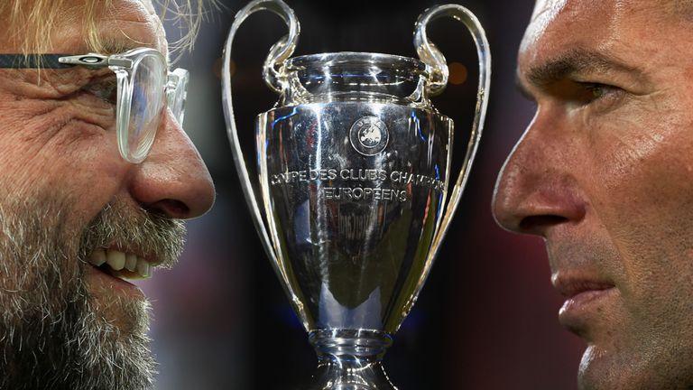 Chung kết cup c1 Champions League 2018 real vs Liveroool, Zidane và Klopp