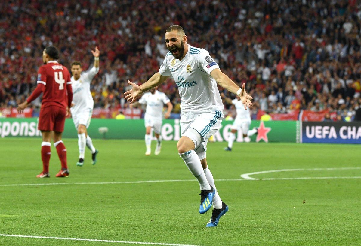 chung kết cup c1 Real vs Liveprool - Benzema ghi bàn cho Real