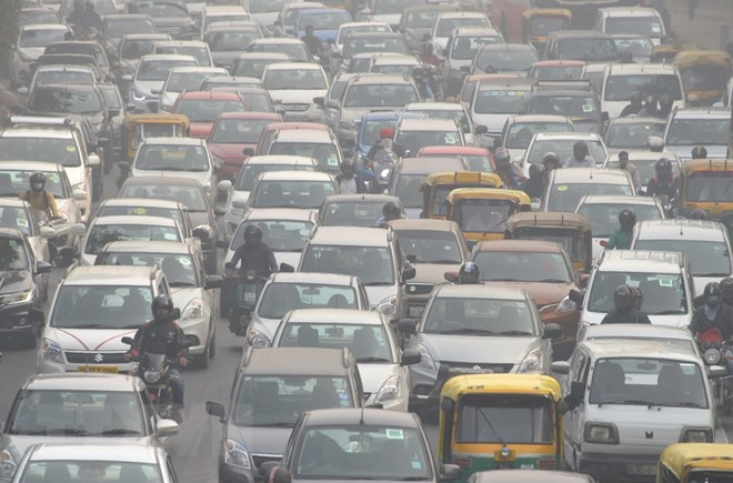 Ấn Độ, ô nhiễm, New Delhi, ùn tắc giao thông