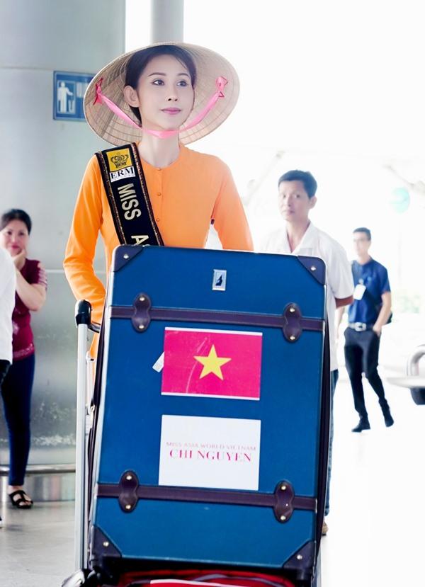 Chi Nguyễn đã chính thức được Cục nghệ thuật biểu diễn cấp phép tham gia cuộc thi Miss Asia World 2018