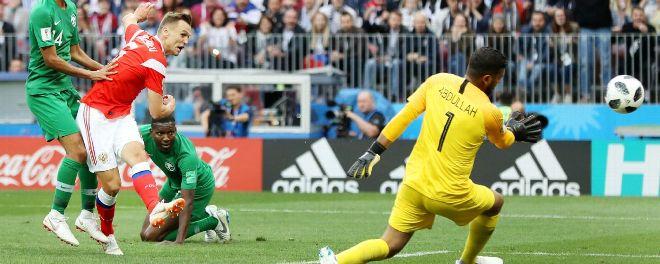 Cheryshev ghi bàn cho tuyển Nga