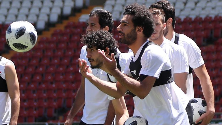 Salah trong buổi tập của Ai Cập