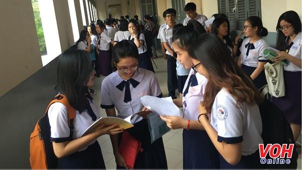 học sinh thi thpt quốc gia