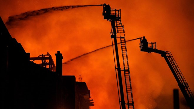 Trường Nghệ thuật Glasgow, hỏa hoạn, cháy