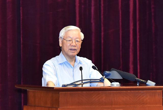 Tổng Bí thư Nguyễn Phú Trọng chủ trì Hội nghị toàn quốc về công tác phòng chống tham nhũng