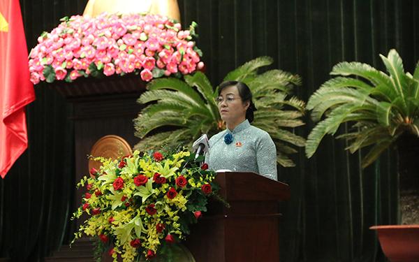 Kỳ họp thứ 9 HĐND TPHCM - bà Nguyễn Thị Quyết Tâm