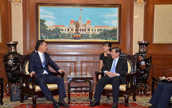 Chủ tịch UBND TPHCM Nguyễn Thành Phong Đại sứ Hàn Quốc