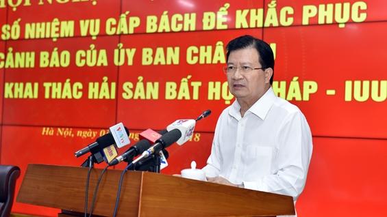Phó Thủ tướng Trịnh Đình Dũng phát biểu tại Hội nghị. Ảnh: VGP/Nhật Bắc