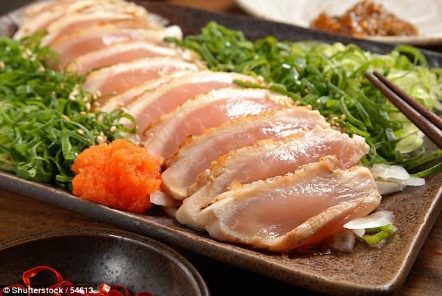 thịt gà sống, sashimi, nhiễm ký sinh trùng, searimi, Giun Toxocaraspp