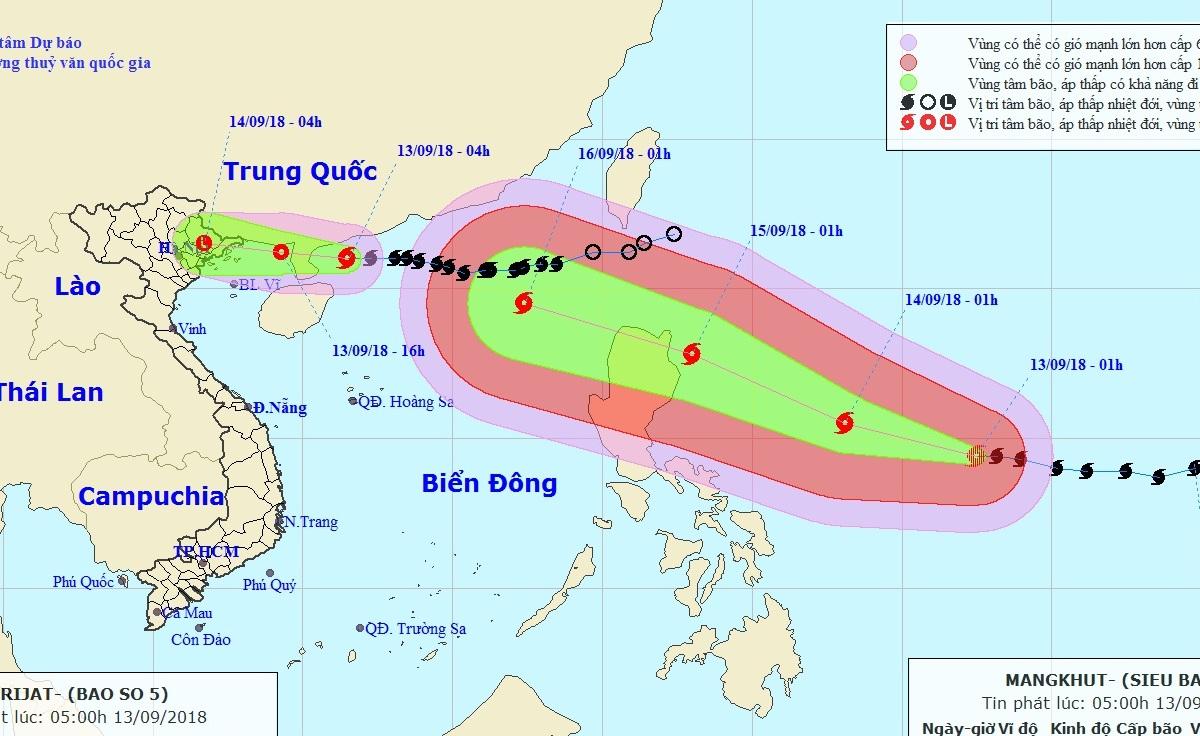 Siêu bão MANGKHUT, bão số 5, bão 2018