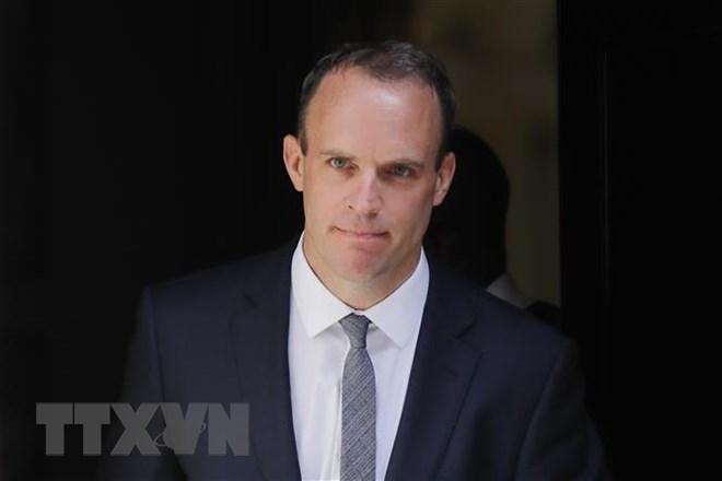 Bộ trưởng phụ trách vấn đề Brexit của Anh Dominic Raab tại thủ đô London ngày 9/7. (Ảnh: AFP/TTXVN)