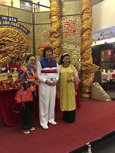 NS Hồng Nga, NSƯT Minh Vương và NSND Kim Cương trong ngày Truyền thống sân khấu Việt Nam