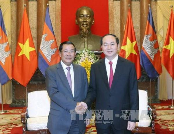 Chủ tịch nước Trần Đại Quang, Thủ tướng Hun Sen