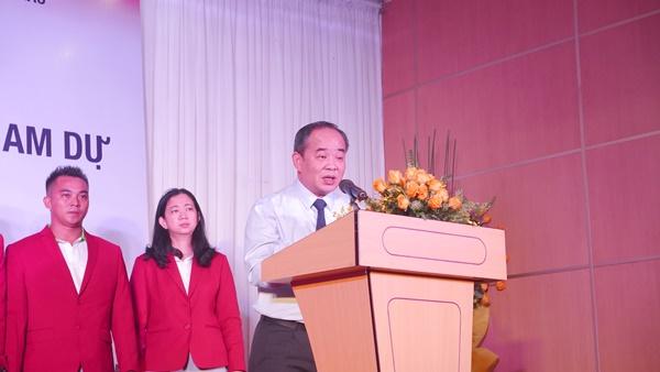 Thứ trưởng Bộ Văn hóa - Thể thao - Du lịch Lê Khánh Hải phát biểu tại Lễ xuất quân.