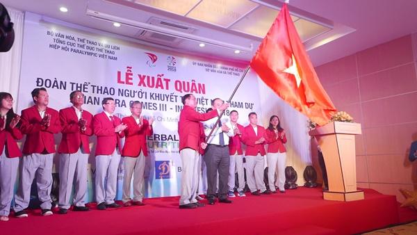 54 vận động viên Việt Nam lên đường tham dự Asian Para Games 2018 với 8 môn thi đấu tại Jakarta, Indonesia từ 6 - 13/10/2018