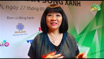 Ca sĩ Cẩm Vân trải lòng về chương trình 20 năm Làn Sóng Xanh