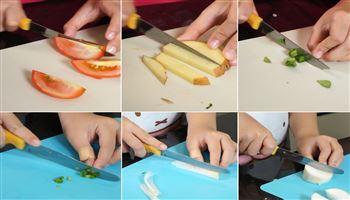 Cùng con vào bếp (Số 2): Dạy bé các kiểu thái rau củ