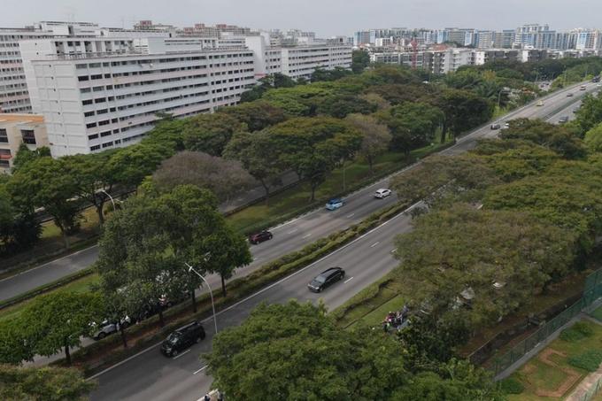 Đoàn xe hộ tống ông Kim di chuyển trên cao tốc Pan Island. Ảnh: Straitstimes.