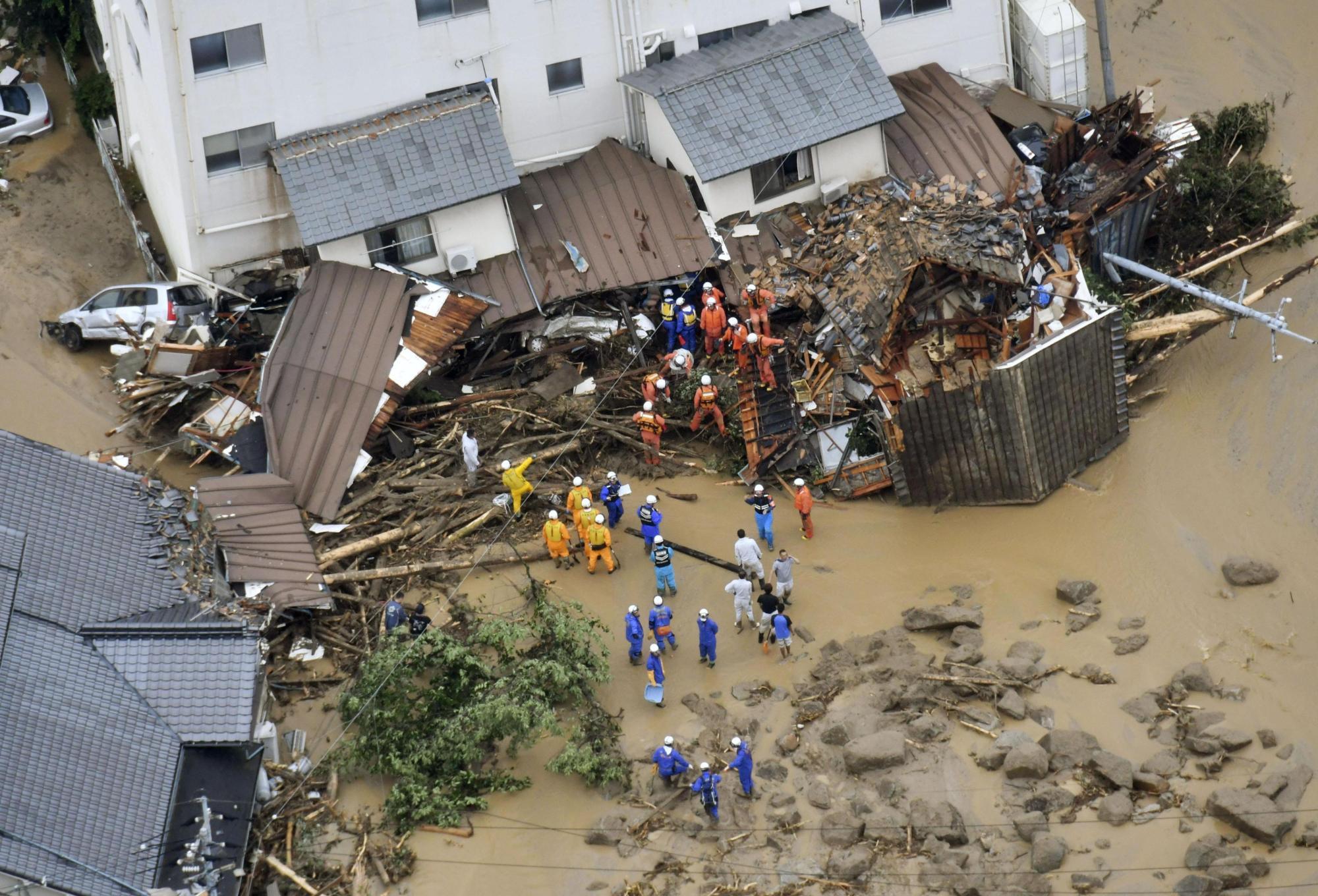 Thị trấn Motoyama trên đảo Shikoku, lượng mưa đo được từ ngày hôm qua đến sáng nay là 583mm.