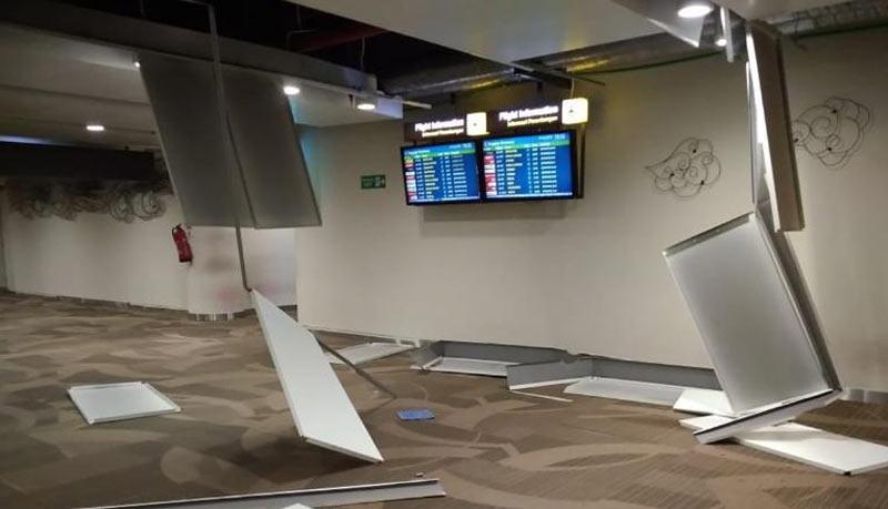 Động đất còn rung chuyển cả sân bay Bali. (Nguồn: abc.net.au)